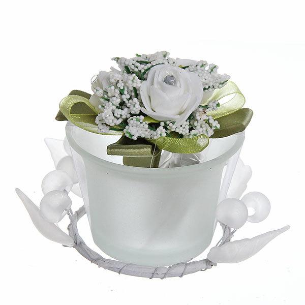 Свеча ″Праздничная″ с розами 10*10*7 см купить оптом и в розницу