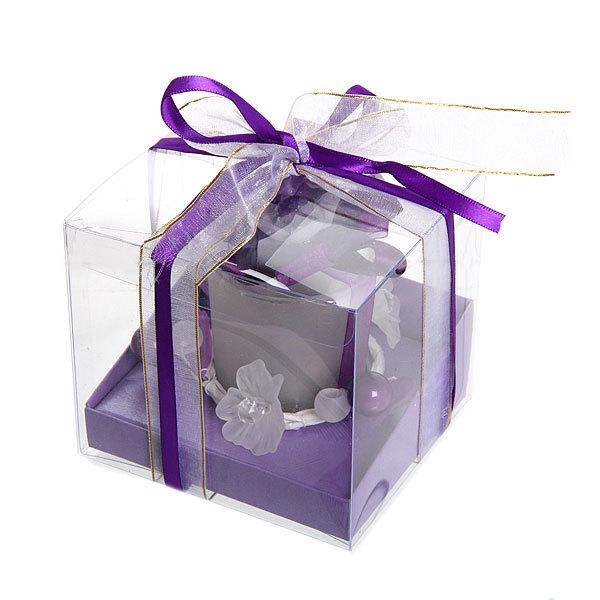 Свеча ″Праздничная″, фиолетовая, 10*9 см купить оптом и в розницу