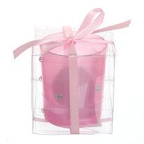 Свеча ″ Праздничная″ 1 штука 10*8 см с розами ВС-58-1 купить оптом и в розницу