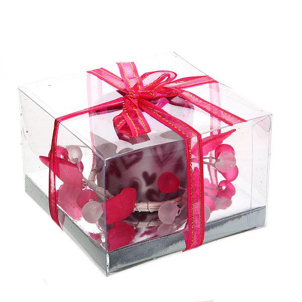 Свеча ″Праздничная″, с сердечками, 9*5 см купить оптом и в розницу
