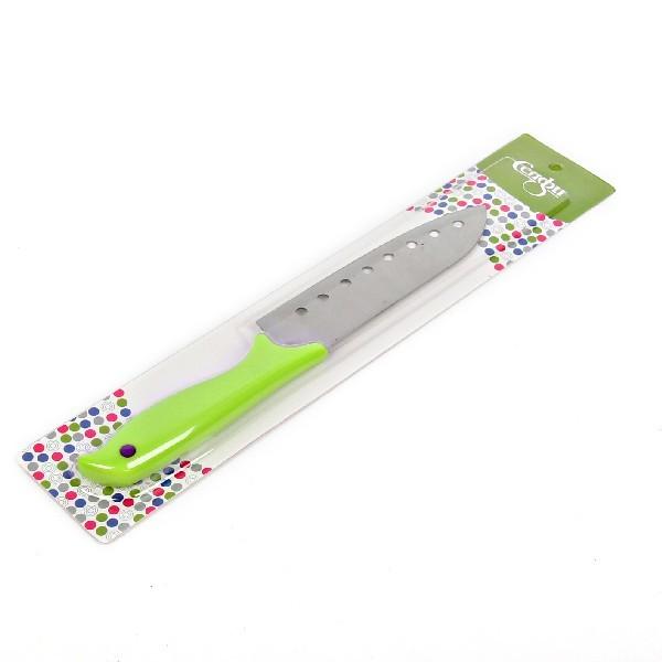 Нож кухонный 16см универсальный с пластиковой ручкой зеленый купить оптом и в розницу