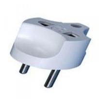 Переходник электрич. 16А  (серый)  (1/250) купить оптом и в розницу