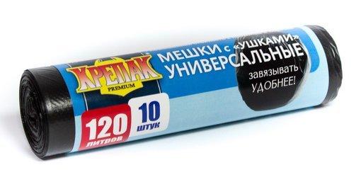 """пак. д/мус. в рулоне с """"ушками"""" 120л/10шт.(крепак) купить оптом и в розницу"""