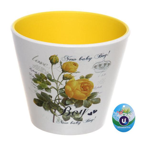 Кашпо для цветов садовое ″Роза″ 14х12см 13018-3 купить оптом и в розницу