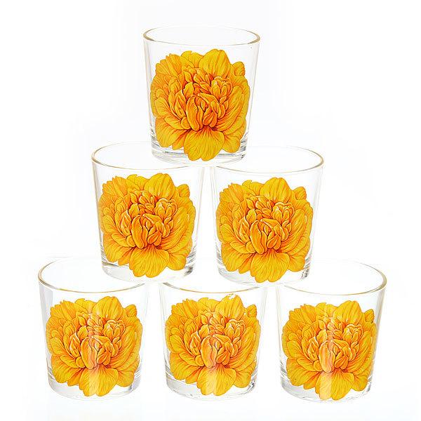 Набор стаканов 6шт 250мл Ода ″Пион″ низкие купить оптом и в розницу
