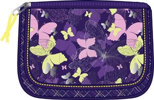 Пенал объемный 1отдел.пуст.Erich Krause Butterfly Land, фиолетовый (мультипенал) купить оптом и в розницу