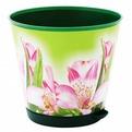Горшок для цветов Крит D 120 mm с системой прикорневого полива 0,7л Лилия*16 купить оптом и в розницу