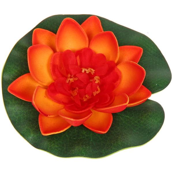 Растение водоплавающее ″Лотос″ d-10см оранжевый купить оптом и в розницу