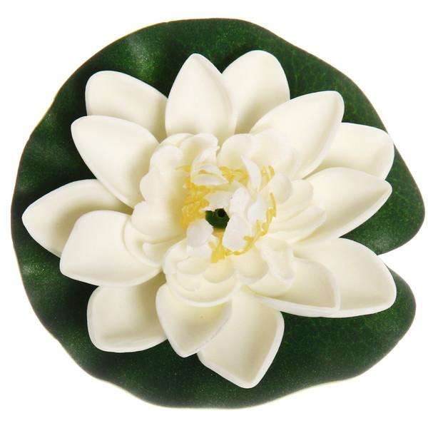 Растение водоплавающее ″Лотос″ d-10см белый купить оптом и в розницу