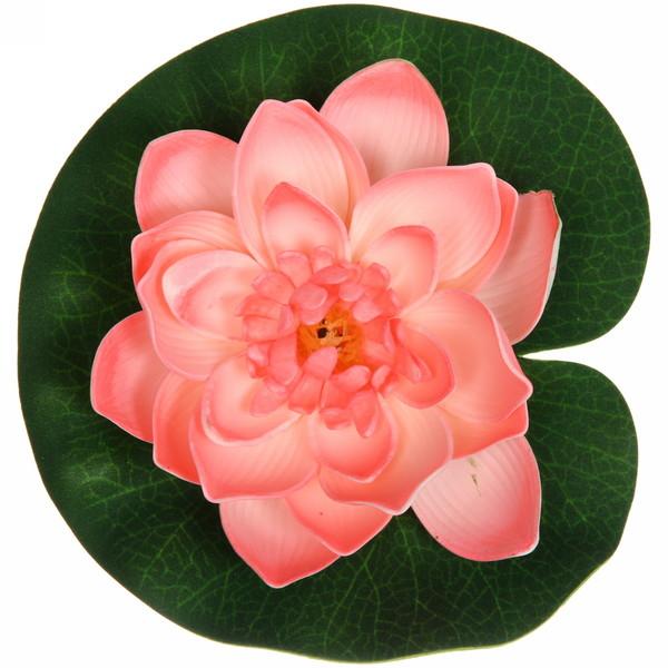 Растение водоплавающее ″Лотос″ d-18см персиковый купить оптом и в розницу