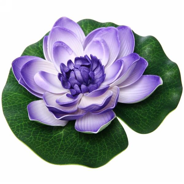 Растение водоплавающее ″Лотос″ d-18см синий купить оптом и в розницу