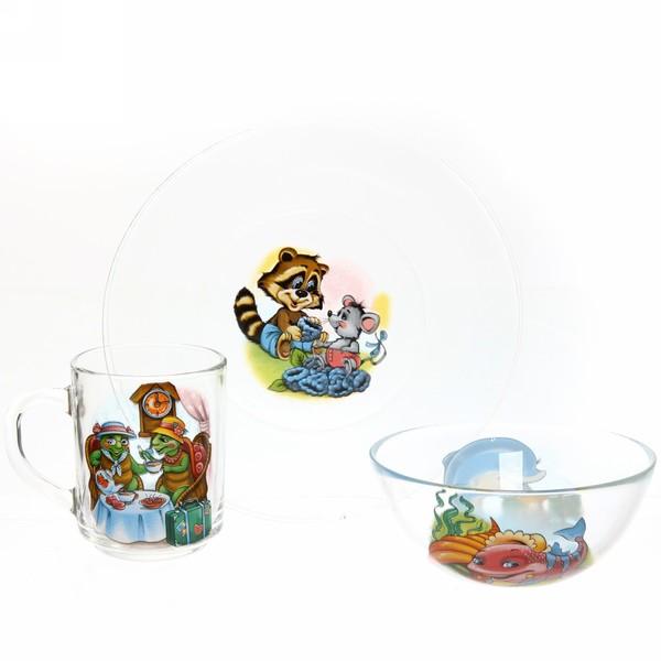 Набор посуды для завтрака ″Азбука″ 2 купить оптом и в розницу