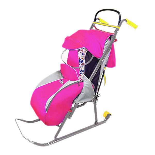 Санки-коляска ″Ника детям 2″ розовый НД2 купить оптом и в розницу