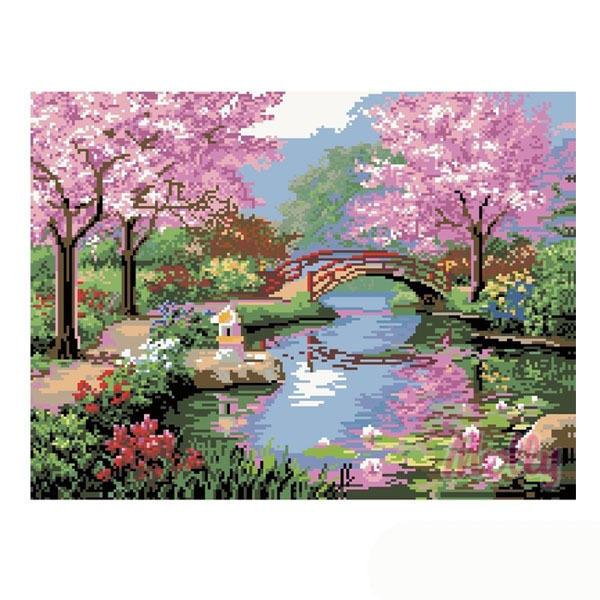 Набор ДТ Картина мозаикой Весенняя пастораль GZ086 купить оптом и в розницу
