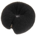 Заколка-валик для создания пучка на кнопке, цвет черный купить оптом и в розницу
