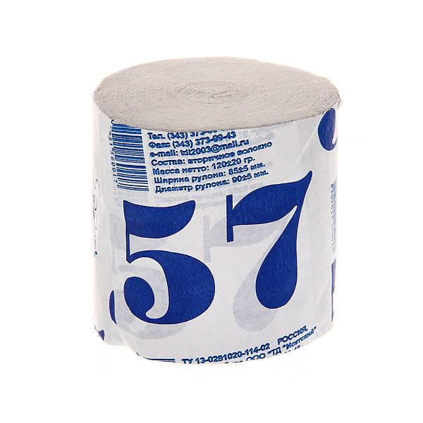Бумага туалетная 1сл 1рул. ″57″ без втулки купить оптом и в розницу