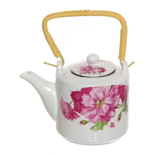 Чайник заварочный керамический 500 мл ″Цветы″ №1 купить оптом и в розницу