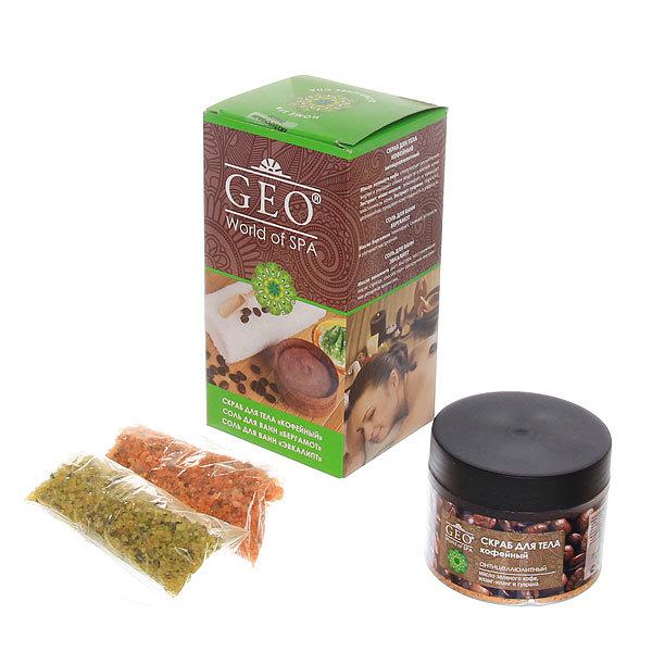 Подарочный набор Geo Кофе (скраб для тела и соль для ванны) купить оптом и в розницу