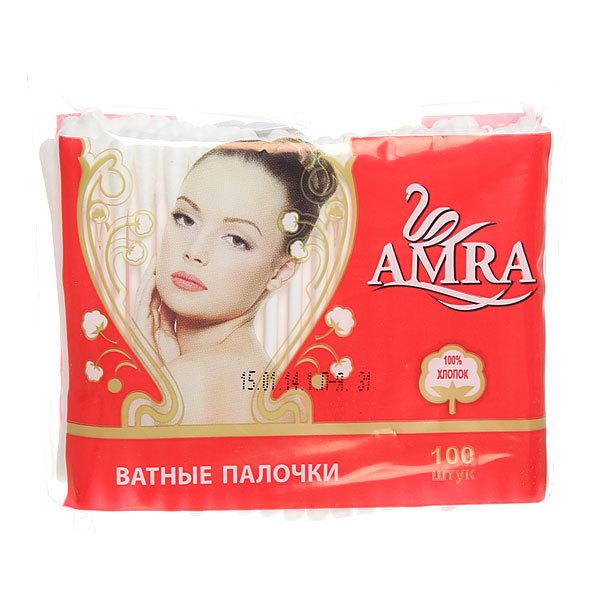 Ватные палочки 100шт ″Amra″ в пакете купить оптом и в розницу