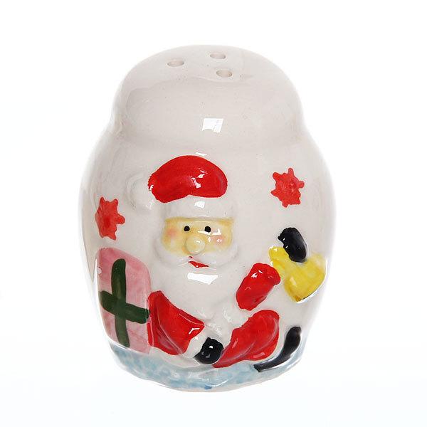 Набор для специй керамический + салфетница на подставке ″Новогодний″ 3шт купить оптом и в розницу