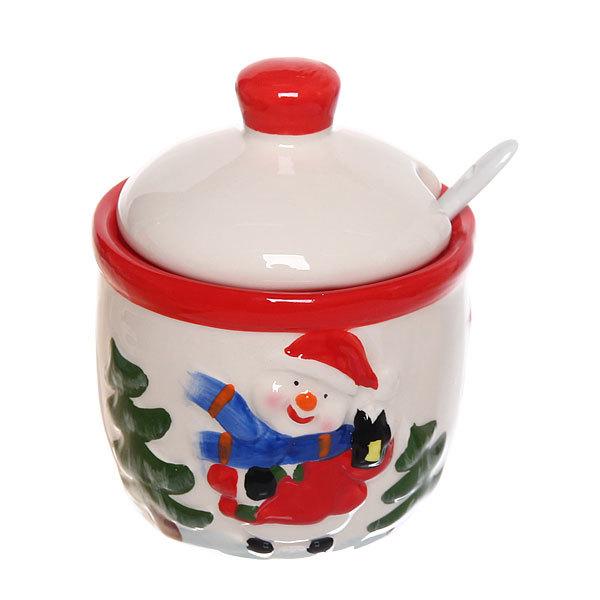 Сахарница керамическая 200мл ″Дед Мороз″ купить оптом и в розницу