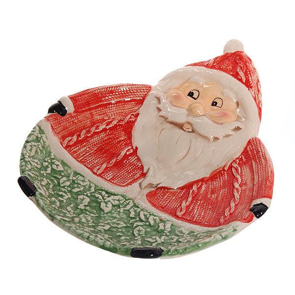 Тарелка керамическая ″Веселый Дед Мороз″ купить оптом и в розницу