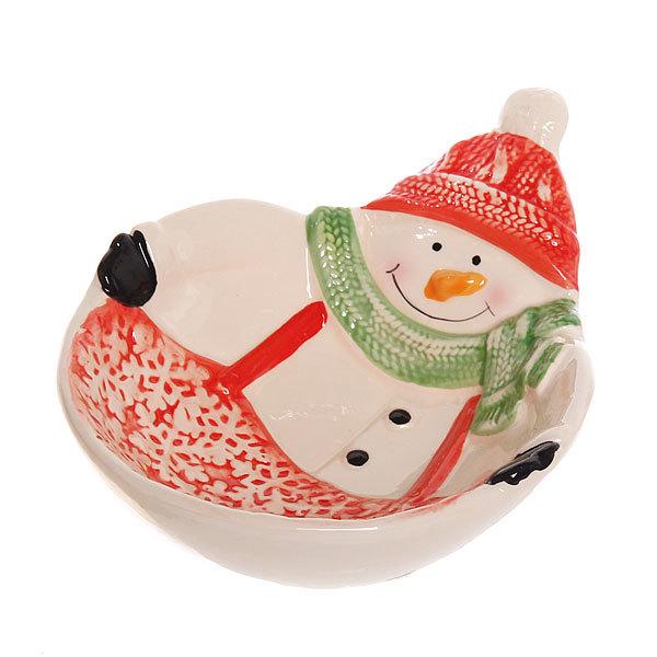 Тарелка керамическая ″Снеговик″ купить оптом и в розницу
