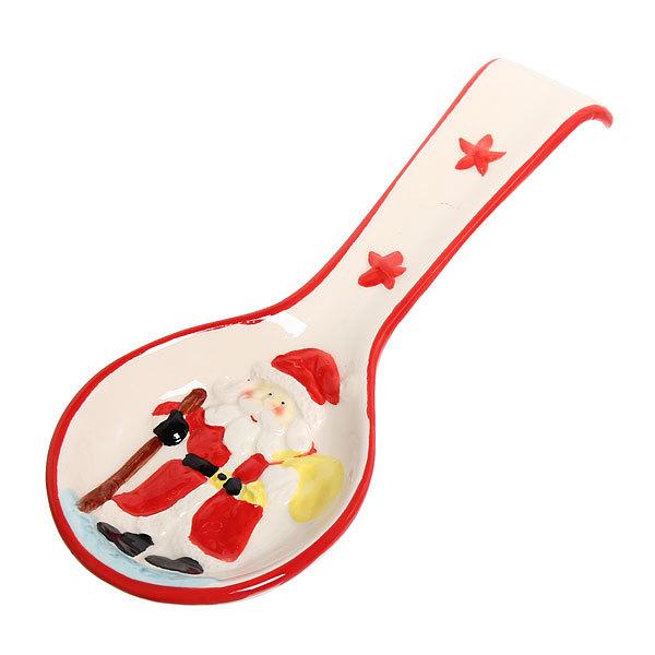 Подставка под ложку керамическая ″Дед Мороз с палкой″ купить оптом и в розницу
