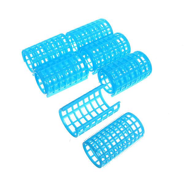 Бигуди пластмассовые с зажимом 6шт, цвет микс, d=36мм купить оптом и в розницу