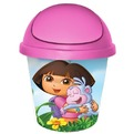 """Детская мусорная корзина круглая 7л. """"ДАША-ПУТЕШЕСТВЕННИЦА"""" pink""""*10 купить оптом и в розницу"""