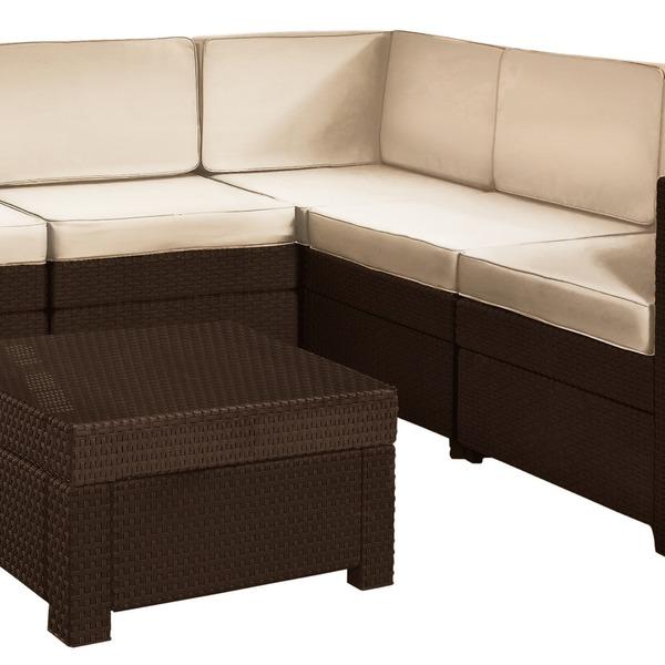 Комплект садовой мебели  Provence (искусственный ротанг) w/o couch (корич) купить оптом и в розницу