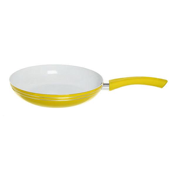 Сковорода d-26 см с керамическим покрытием желтая купить оптом и в розницу