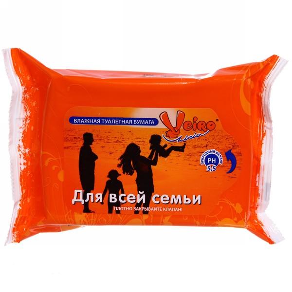 Бумага туалетная влажная 66л. ″Linia Veiro″ Для всей семьи купить оптом и в розницу