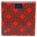 Салфетки бумажные 3сл. 20л Арт Букет ″Шотландская клетка на красном″ (12) купить оптом и в розницу