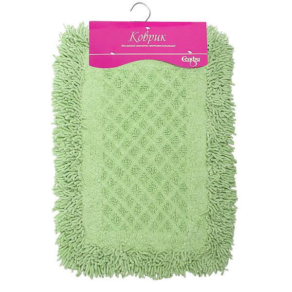 Коврик для ванны Селфи 40*60 100% хлопок A05 зеленый купить оптом и в розницу
