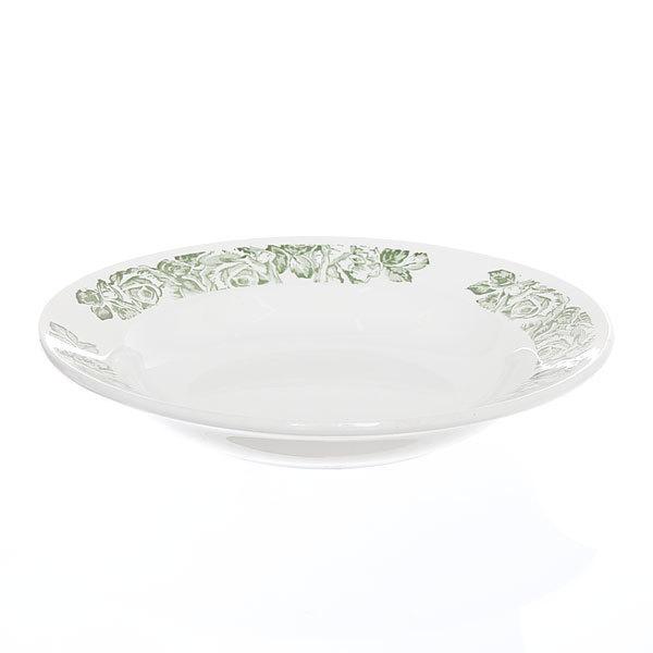 Тарелка керамическая 20 см глубокая Сортовая с узором 1/20 СК_055 купить оптом и в розницу