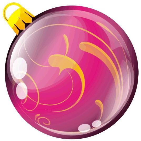 Наклейка круг цветная D 50 мм ″Новогодний шар, вид 4″ (полимер) купить оптом и в розницу