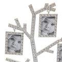Фоторамка из металла ″Семейное Древо″ 5 фото серебро со старазами 9630 купить оптом и в розницу
