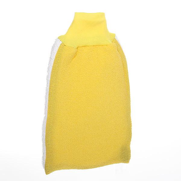 Мочалка-варежка для тела мягкая ″Банька″ махра 20*14см купить оптом и в розницу