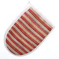 Мочалка-варежка для тела мягкая ″Банька″ полоски 20*14см купить оптом и в розницу