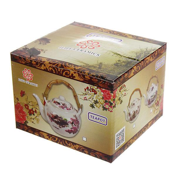 Чайник заварочный керамический 750 мл ″Шиповник″ купить оптом и в розницу