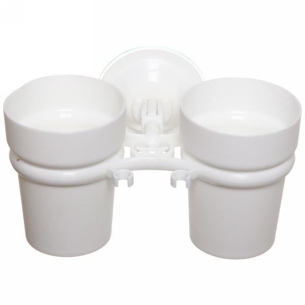 Стаканчики для зубных щеток на присоске Y807-W купить оптом и в розницу