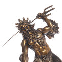 Статуэтка из полистоуна античная Посейдон 9437 (бронза) купить оптом и в розницу