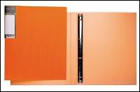 """Папка на 4кольц.А4 HATBER """"HD"""" Неоново-оранжевая, 25мм купить оптом и в розницу"""
