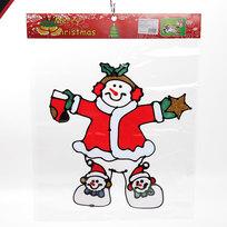 Наклейка на стекло 45*35 ″Веселый снеговичок″ А1085 купить оптом и в розницу
