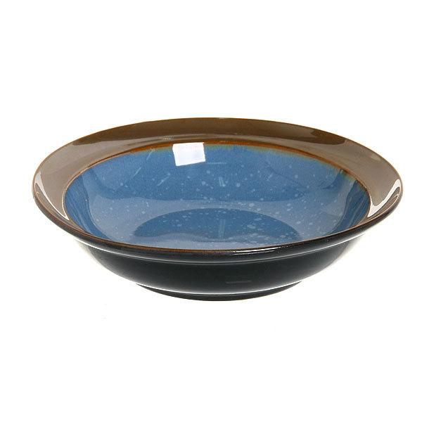 Тарелка керамическая ″Голубой перламутр″ глубокая 20 см ТС252 купить оптом и в розницу