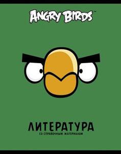 """Тетрадь 48л.лин.скрепка HATBER , """"Angry Birds Литература"""" купить оптом и в розницу"""