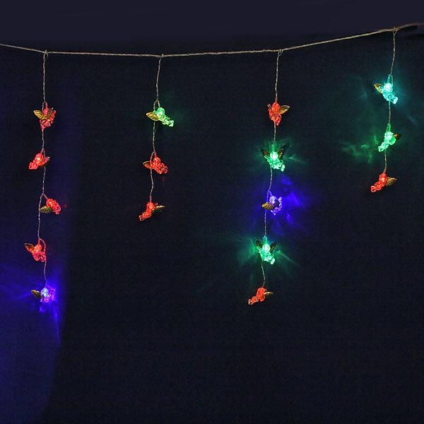 Бахрома светодиодная 2,5 х 0,5 х 0,3м, 51 лампа LED, Ангел, RG/RB (красный, зеленый/ красный,синий), 8реж,с возм.соед купить оптом и в розницу