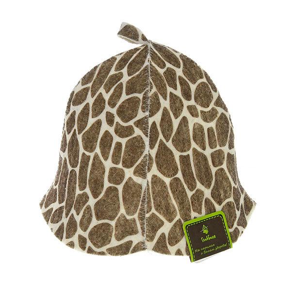 Шапка банная принт., войлок (жираф, НОВИНКА) купить оптом и в розницу