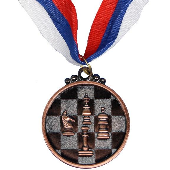 Медаль ″Шахматы″ - 3 место (5см) 65 купить оптом и в розницу